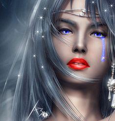 angel, grey hair, graphic, tear, fleetwood mac, glitter girl, fantasi art, beauti, fantasi women