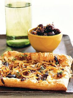 An elegant Carmelized Onion Tart #valentinesday #dinner #recipes