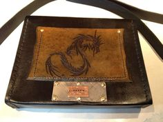 Cross-body Bag (Adventure) back (hand tooled)