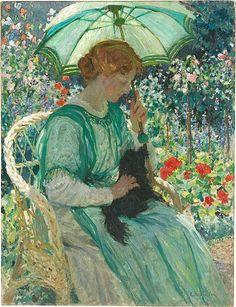 Emanuel Phillips Fox (1865 -1915) The Green Parasol 1912