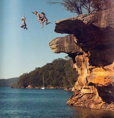 adventur, pink summer, buckets, lake george, cliff jump, leap of faith, summer fun, place, bucket lists
