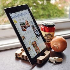 Oooh, I need one of these for my iPad, my handy cooking tool and entertainer. Thanks @Matty Chuah Kitchn!