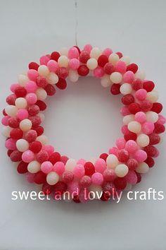 valentines gumdrop wreath