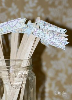 50 Map Travel Themed Drink Stirrers or Stir by dillpicklepicnic, $14.00