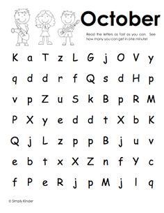 Freebielicious: Letter Naming Fluency