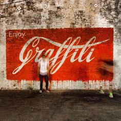 """by Ernest Zacharevic - New mural: """"Enjoy Graffiti"""" - Los Angeles, CA - 09.07.2014"""
