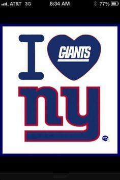 I Love NY Giants Football