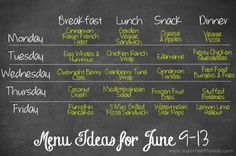 June 9th meal plan #healthymeals #healthykids