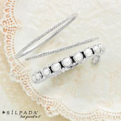 You'll feel like a princess on your #wedding day in these oh-so-perfect bangles. Find these pieces for your wedding at www.mysilpada.com/jasmin.bevolas