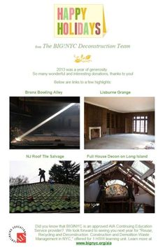 Email Marketing Tip: Were there certain projects or achievements that really stood out for your business in 2014? For a nonprofit organization like Build it Green! NYC, showing their different successes allows them to tell their story and motivate supporters, donors, and volunteers.