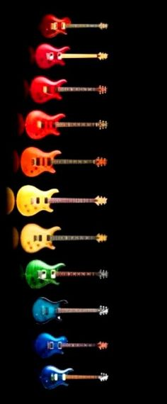 Rainbow of guitar