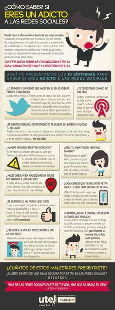¿Cómo saber si eres adicto a las Redes Sociales? #infografia #infographic #socialmedia