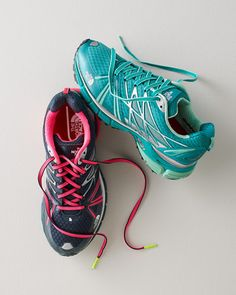 Lightweight sneakers to take you wherever the terrain leads, road to trail. We love the function — a breathable upper with wicking properties — and we really love the fashion in the form of bright laces.