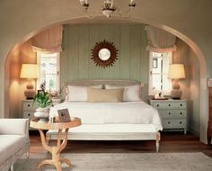 arched bedroom