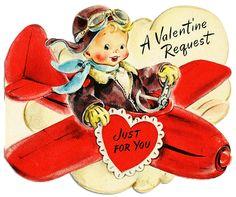 ImagiMeri's: Vintage plane valentine