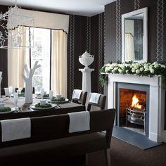 Elegant Wallpaper for Dining Room | New Home Interior Design: Dining room wallpaper ideas