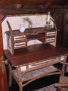 An Antique Rustic Birch Secretary by ALRF, via Flickr