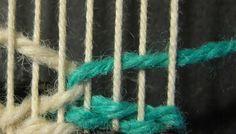 Interlock-Step-tapestry weaving