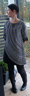 "Clever use of fabric ""Fokus"" by Marimekko.Tunic by Piipadoo from Yoshiko Tsukiori's book ""Ihanat mekot ja tunikat""."