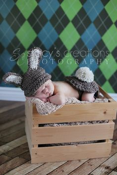 Crochet Hat Crochet Baby Hat Bum Cover Baby Bunny by Monarchdancer, $39.00