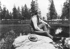 John Muir at Mirror Lake in Yosemite Valley (sierraclub.org)