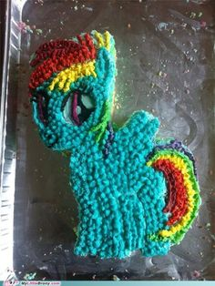 Rainbow Dash cake.! I nEED this