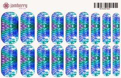 Mermaid inspired jamberry nail wraps. Create your own custom wraps today! Ashley Binder, jamberry nails indepdent consultant  http://berryawesomeash.jamberrynails.net/nas/