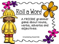 Roll A Word: Spring Reading Game FREEBIE