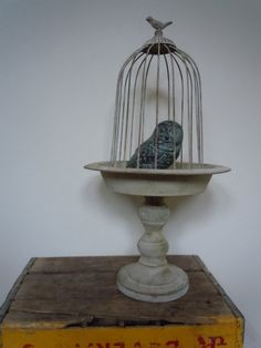 Large Metal Stand With Metal Cover Bird Finial by totallylegalpot, $39.95