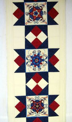 Patriotic Quilted  table runner by KellettKreations on Etsy, $34.00
