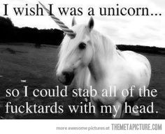 I wish I was a unicorn…sometimes yes!