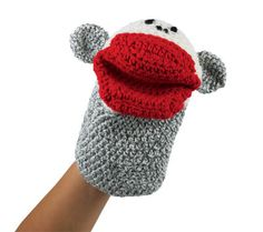 monkey puppet free crochet pattern Designed by Loops & Threads