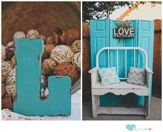DIY Rustic Wedding Ideas - blue and Ivory wedding colors