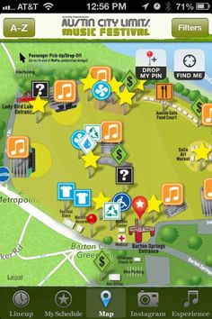 App help for getting to/getting around Austin City Limits Festival