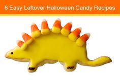 Easy leftover Halloween candy recipes - love this dinosaur! :: Mint.com/blog