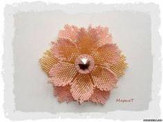 Схема цветка Анемона - Цветы - Схемы плетения бисером - Сокровищница статей - Плетение бисером украшений, деревьев и цветов, схемы мк