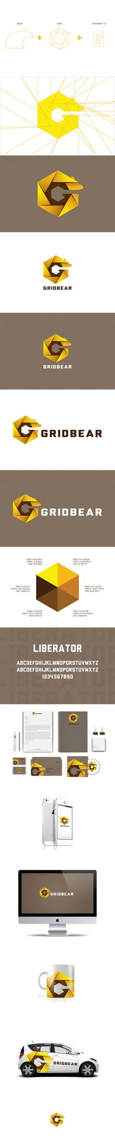 GridBear Visual Identity | #stationary #corporate #design #corporatedesign #identity #branding #marketing repinned by www.BlickeDeeler.de | Visit our website: www.blickedeeler.de/leistungen/corporate-design