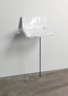 ROSEMARIE TROCKEL avalanche, 2008 Glazed ceramic, metal