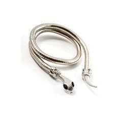 Free Bending Silver Snake Fashion Bracelet (41 CAD) found on Polyvore