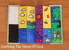 Here is a way to remind your sponsored children of the days of creation with this fun printable bookmark #bible #printable #bookmark