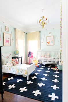 baby & toddler shared bedroom via lay baby lay.