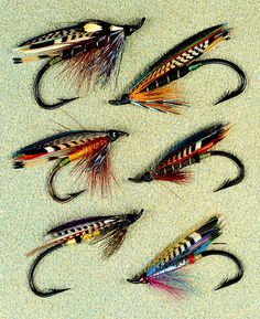 a sample of the 350 undiscovered  steelhead and salmon flies, created and  tied by Preston Jennings, featured in FORGOTTEN FLIES, with their instructions.