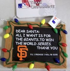 sf giants diy christmas ornaments | San Francisco Giants MLB Baseball Christmas Tree Ornament Resin ...