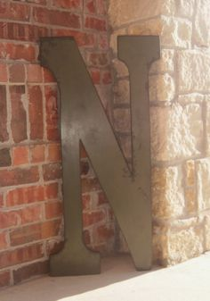 Metal letter n love pinterest for 3 foot tall letters