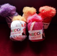 Keppi yarn from Lionbrand. Can't wait to cast on!