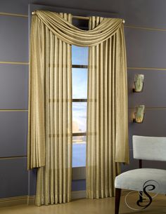 Softline Home Fashions Citation drapes with scarf valance