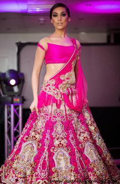 Love this hot pink wedding lehenga from Soltee by Sulakshana Monga indian wedding, Indian bride