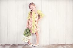 Center Ruffle Peasant Dress and Top