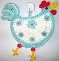 Crochet Chicken - wall deco, by Jerre Lollman