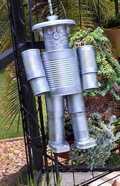 Tin can creations on pinterest tin man tin cans and for Things made out of tin cans